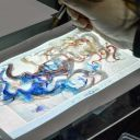 Shown here: watercolor drawing/painting process. Photo: courtesy of Onur Yüce Gün
